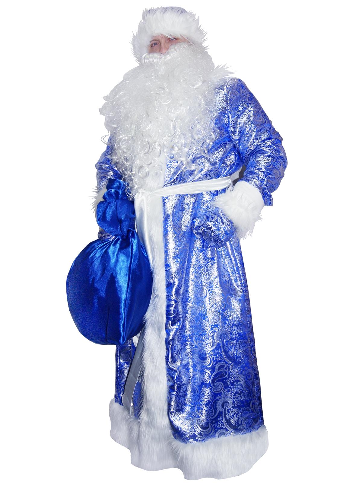 где можно картинка деда мороза в синем костюме стиле прованс