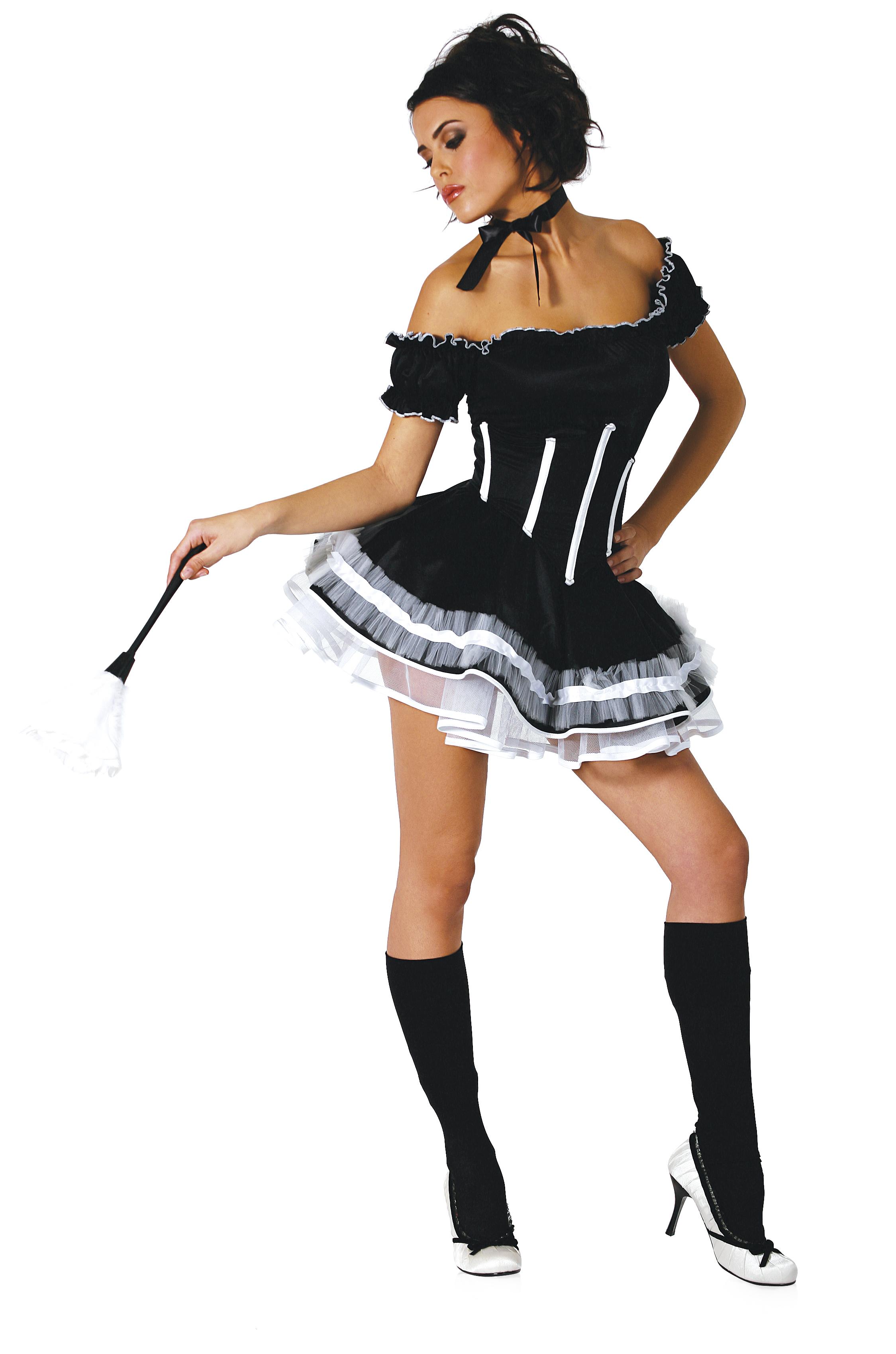 Эротический костюм служанки горничной 11 фотография