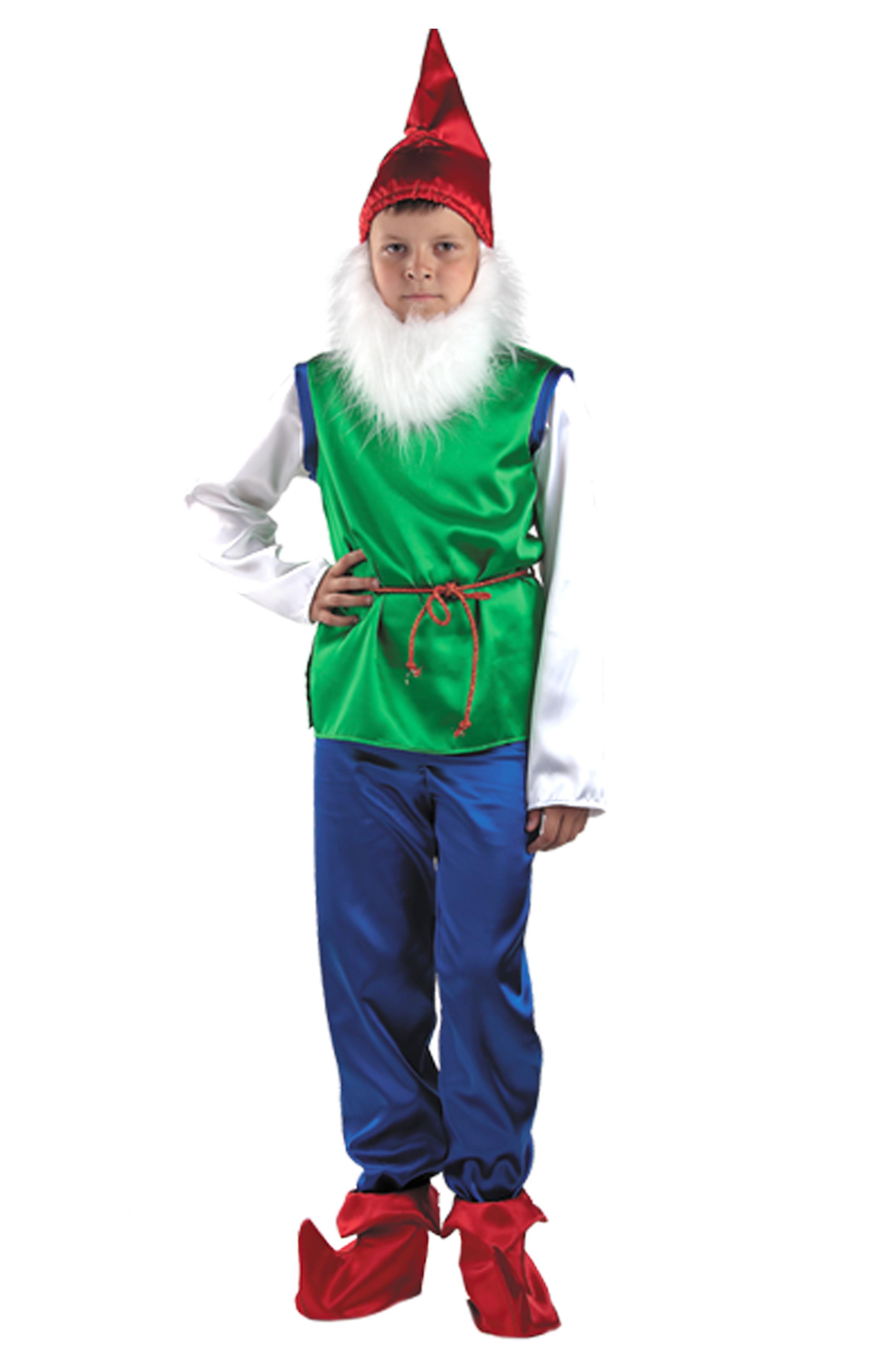 Карнавальный костюм гномика для мальчика