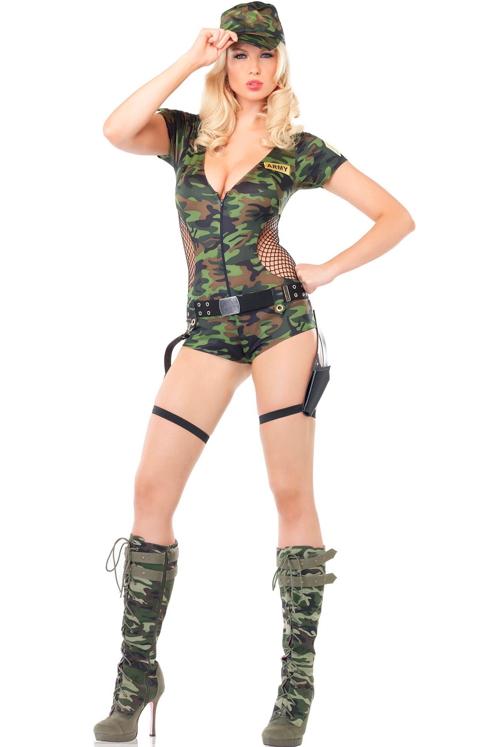 Сексуальные девушки в эротичных военных костюмах фотосессия фото 18 фотография