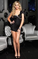 Клубные платья - Короткое черное платье