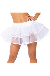 Грим для лица - Белая двухслойная юбка