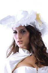 Пиратки - Белая пиратская шляпа с накидкой