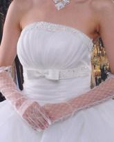 Невесты - Белые ажурные перчатки выше локтя