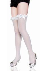 Корсеты - Белые чулки с рюшками