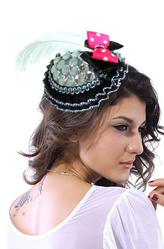 Маленькие шляпки - Черная шляпка с бантиком