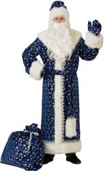 Грим для лица - Дед Мороз синий в снежинках