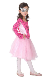 Грим для лица - Девочка-паук в розовом
