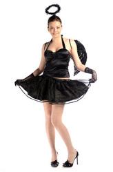 Крылья для костюма - Элегантный черный ангел
