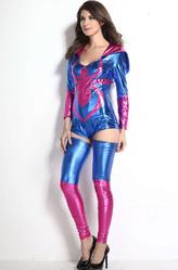 Карнавальные маски - Храбрая женщина-паук в голубом