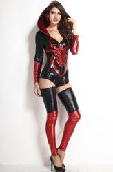 Грим для лица - Храбрая женщина-паук в красном