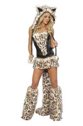 Перчатки и боа - Игривый леопард