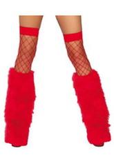 Сказочные персонажи - Красные меховые накладки на сапоги
