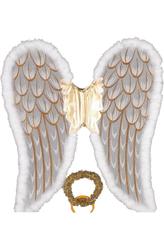 Ангелы и Феи - Крылья ангела с золотым нимбом