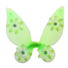 Крылья бабочки зеленые