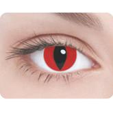 Ресницы и линзы - Линзы Кошачий глаз красные