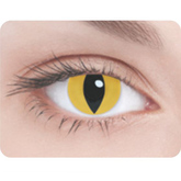 Ресницы и линзы - Линзы Кошачий глаз желтый