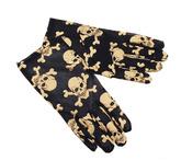 Пиратки - Мини перчатки с черепом