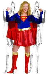 Супермен - Костюм Миролюбивая супердевушка плюс