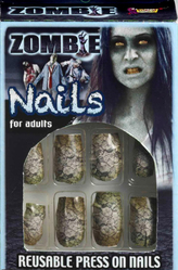 Для костюмов - Ногти накладные Зомби