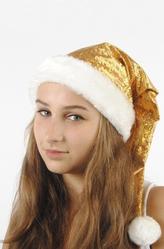Парики и шляпы - Колпак гномика золотой