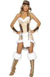Ковбои и Индейцы - Очаровательная индейская девушка бежевый