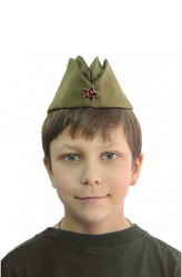Парики и шляпы - Пилотка Юный вояка