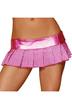 Розовая юбка в горошек