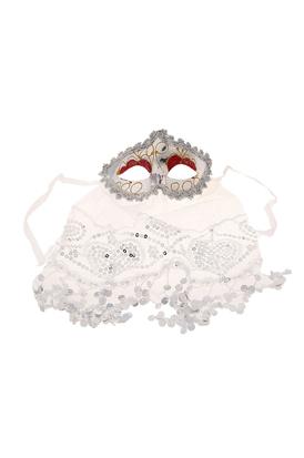 Серебряная маска с вуалью