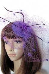 Ретро и Стиляги - Шляпка Фиолетовая паутинка
