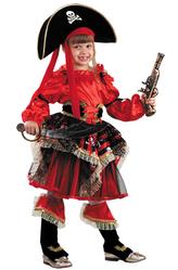 Пиратская тема - Сказочная пиратка красный