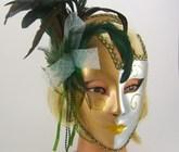 Бразильский карнавал - Венецианская маска с перьями