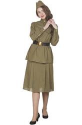 Большие размеры - Костюм Военная красавица