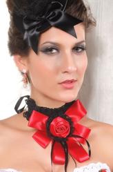 Браслеты и ожерелья - Воротник с красным цветком