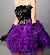 Подъюбники и юбки - Юбка с воланами фиолетовая