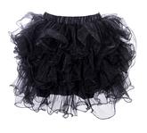 Подъюбники и юбки - Юбка с воланами черная