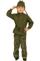 Костюмы для девочек - Костюм Юная военная